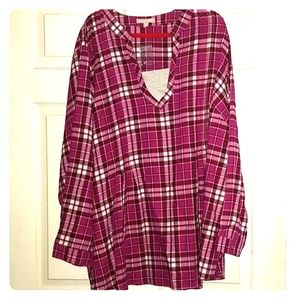 SOLD   Pink Plaid Top